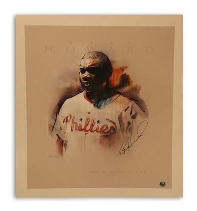"Ryan Howard Philadelphia Phillies Autographed 11"" x 14"" Unframed Photograph"