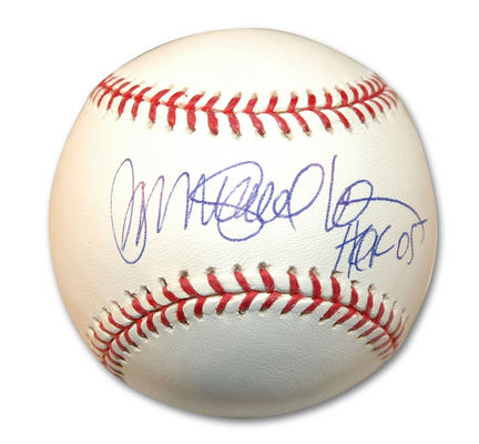 "Ryne Sandberg Autographed MLB Baseball Inscribed with ""HOF 05"