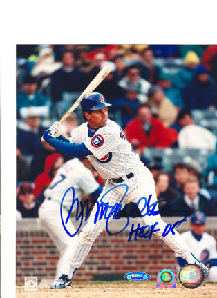 "Ryne Sandberg Chicago Cubs Autographed 8"" x 10"" Photograph Inscribed with ""HOF 05"" (Unframed)"