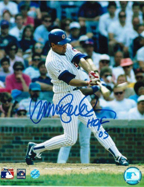 "Ryne Sandberg Chicago Cubs Autographed 8"" x 10"" Unframed Photograph Inscribed ""HOF 05"" (Hitting)"