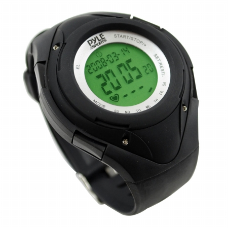 SOUND AROUND-PYLE INDUSTRIES PHRM38BK Heart Rate Monitor Watch with Minimum and Average Heart Rate