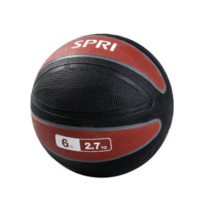 SPRI MED-6R 6 lbs Xerball - Red & Black