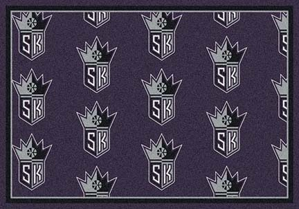 "Sacramento Kings 2' 1"" x 7' 8"" Team Repeat Area Rug Runner"