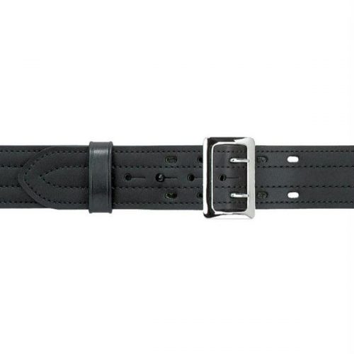 Safariland 87-38-6 87 Suede Lined Belt with Buckle Black Plain Chrome Size 38