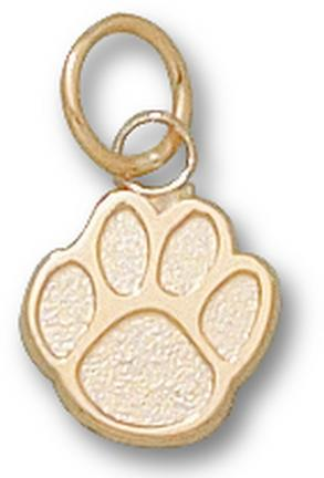 "Sam Houston State Bearkats ""Paw"" 3/8"" Charm - 14KT Gold Jewelry"