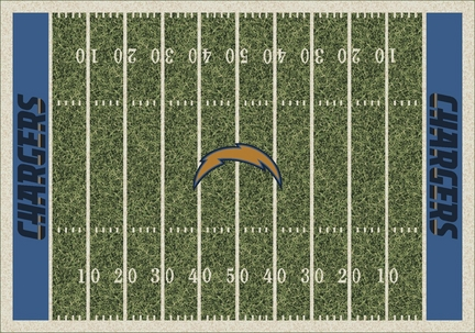 """San Diego Chargers 3' 10"""" x 5' 4"""" Home Field Area Rug"""