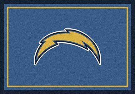 "San Diego Chargers 3' 10"" x 5' 4"" Team Spirit Area Rug (Powder Blue)"