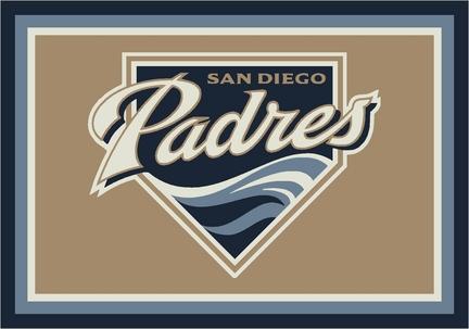 "San Diego Padres 3'10"" x 5'4"" Team Spirit Area Rug"