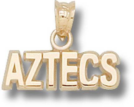 "San Diego State Aztecs ""Aztecs"" Pendant - 14KT Gold Jewelry"