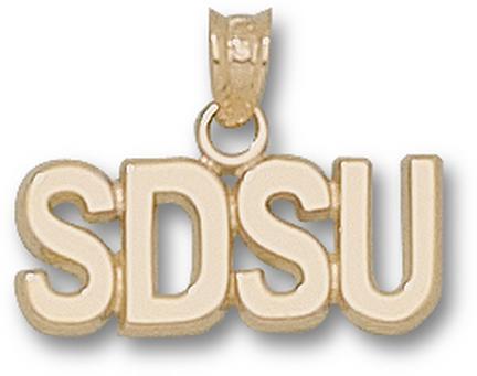 "San Diego State Aztecs Block ""SDSU"" 1/4"" Pendant - 10KT Gold Jewelry"