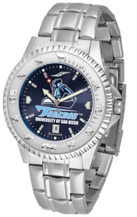 San Diego Toreros Competitor AnoChrome Men's Watch with Steel Band