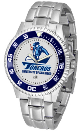 San Diego Toreros Competitor Watch with a Metal Band