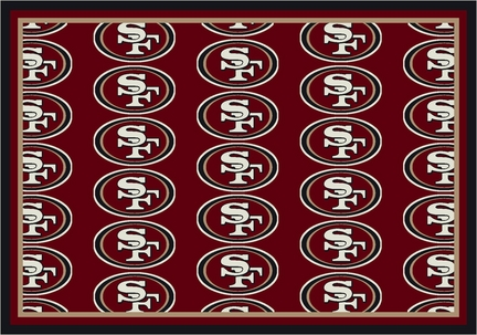 "San Francisco 49ers 3' 10"" x 5' 4"" Team Repeat Area Rug (Red)"