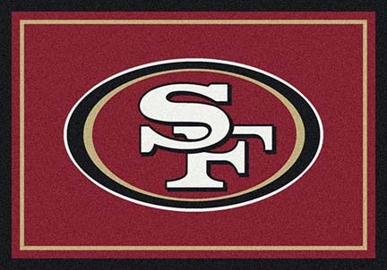 "San Francisco 49ers 3' 10"" x 5' 4"" Team Spirit Area Rug (Red)"