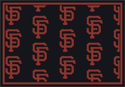 "San Francisco Giants 2' 1"" x 7' 8"" Team Repeat Area Rug Runner"