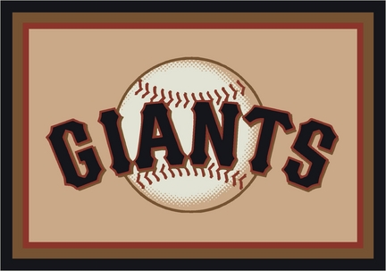 "San Francisco Giants 3'10"" x 5'4"" Team Spirit Area Rug"