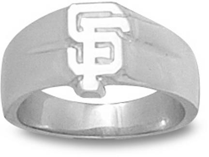 "San Francisco Giants ""SF"" 3/8"" Ladies' Ring Size 6 3/4 - Sterling Silver Jewelry"