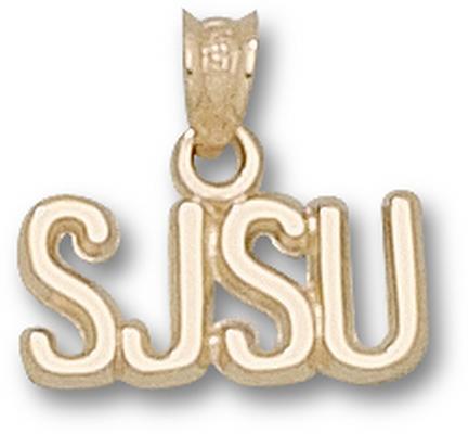 "San Jose State Spartans ""SJSU"" Pendant - 14KT Gold Jewelry"