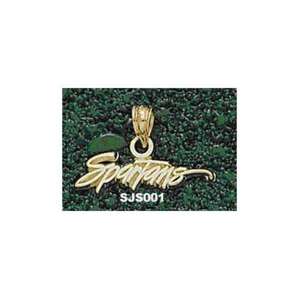 """San Jose State Spartans """"Spartans"""" 3/16"""" Pendant - 14KT Gold Jewelry"""
