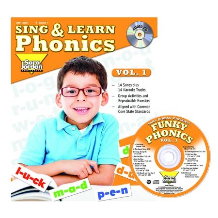 Sara Jordan Publishing JMP125LK Sing & Learn Phonics Book Cd Vol 1