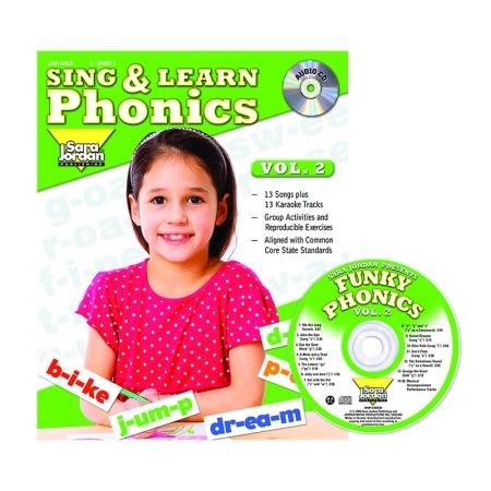 Sara Jordan Publishing JMP126LK Sing & Learn Phonics Book Cd Vol 2
