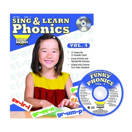 Sara Jordan Publishing JMP128LK Sing & Learn Phonics Book Cd Vol 4
