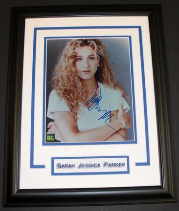"Sarah Jessica Parker Autographed 8"" x 10"" Custom Framed Photograph"