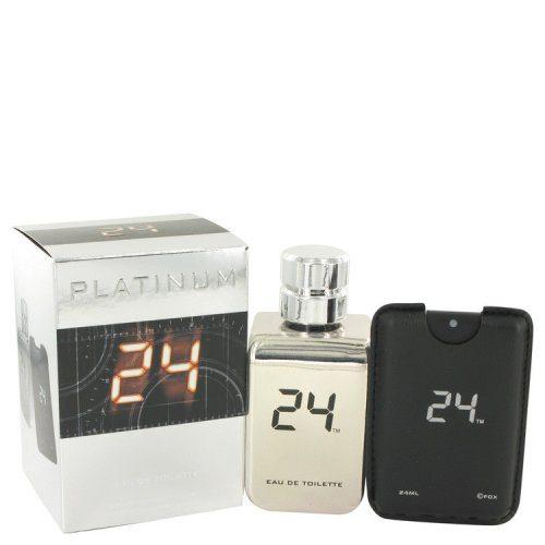 Scentstory 500202 24 Platinum The Fragrance Eau De Toilette Spray Plus 0.8 oz Mini Pocket Spray 3.4 oz