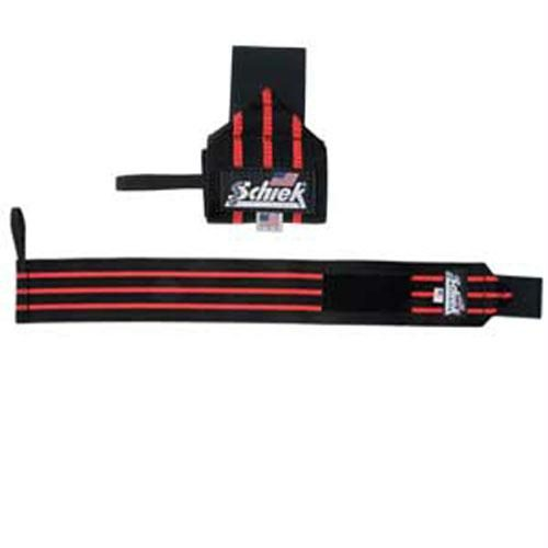 Schiek 1124WS-B Black Line Heavy Duty Wrist Wraps - 24 Inch - Black