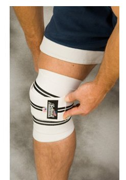 Schiek 1178KW-W Schiek Heavy Duty Knee Wraps - White - 78 Inch