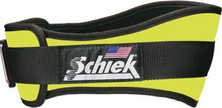 Schiek S-2004YEL 4.75 in. Original Nylon Belt, Neon Yellow - Large