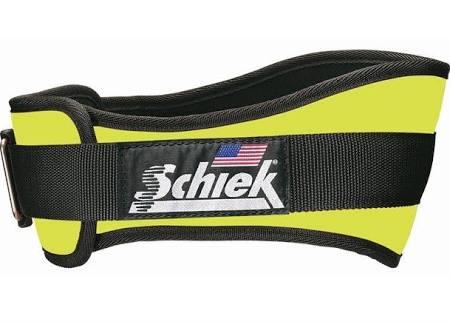 Schiek S-2006YES 6 in. Original Nylon Belt Neon Yellow - Small