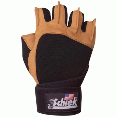 Schiek Sport 425-S Power Gel Lifting Glove with Wrist Wraps Small