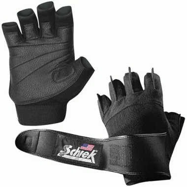 Schiek Sport 540-S Platinum Gel Lifting Glove with Wrist Wraps Small