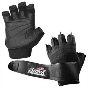 Schiek Sports H-540PS-M Pink Womens Gel Lifting Gloves with Wrist Wraps - S-M