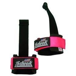 Schiek Sports S-1000DLS-P Power Lifting Straps With Dowel Pink