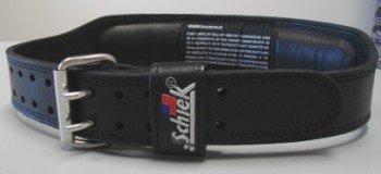 Schiek Sports S-J2014S 4 in. Black Leather Jay Cutler Signature Belt-S
