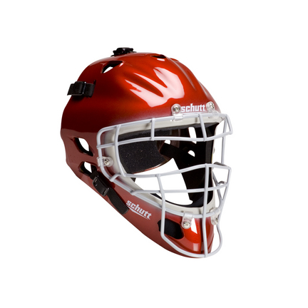 Schutt Hockey Style Umpire / Catcher's Helmet with Gray Face Guard