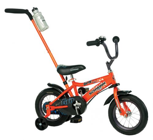 "Schwinn 12"" Boy's Grit Steerable Bicycle / Bike (Orange)"