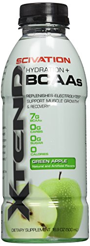 Scivation 3740109 16 oz Extend BCAA Ready-To-Drink Green Apple - 12 Serving