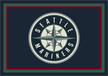 "Seattle Mariners 3'10"" x 5'4"" Team Spirit Area Rug"