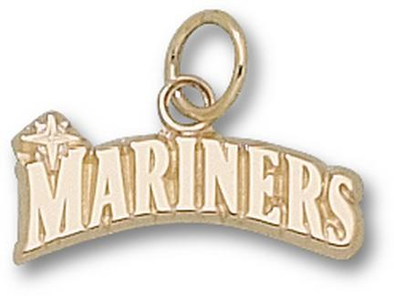 """Seattle Mariners """"Mariners"""" 3/16"""" Charm - 10KT Gold Jewelry"""