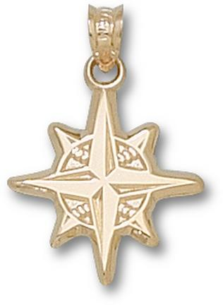 "Seattle Mariners ""Star Logo"" 5/8"" Pendant - 10KT Gold Jewelry"