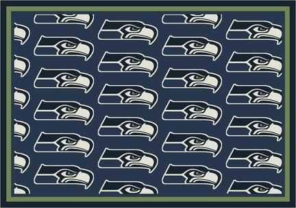 """Seattle Seahawks 3' 10"""" x 5' 4"""" Team Repeat Area Rug (Blue)"""