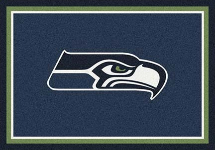 "Seattle Seahawks 3' 10"" x 5' 4"" Team Spirit Area Rug (Blue)"