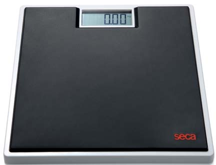 Seca 803 Clara Digital Floor Scale with Black Rubber Mat