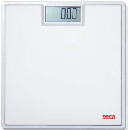 Seca 803 Clara Digital Floor Scale with White Rubber Mat