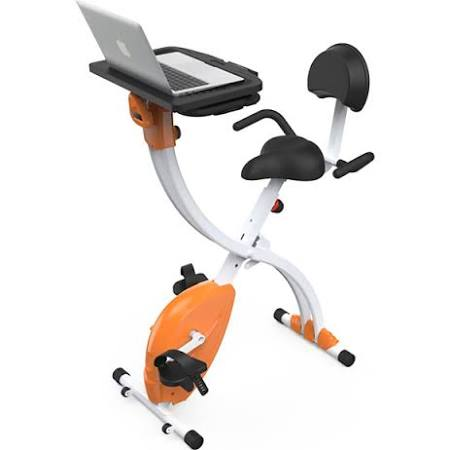 SereneLife SLXB2 Home & Office Exercise Bike with Upright Bicycle Pedaling Fitness Machine with Laptop Tray
