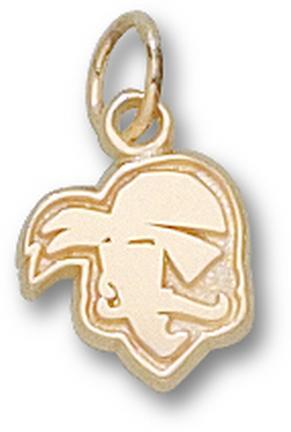 "Seton Hall Pirates New ""Pirate Logo"" 3/8"" Charm - 14KT Gold Jewelry"