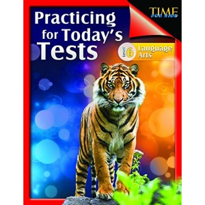Shell Education 51439 Time For Kids - Practicing For Todays Tests Language Arts Grade 6